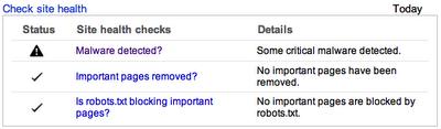Google health check